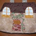ev görünümlü çok şık kumaş çanta modeli