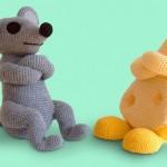 fare ve peynir örgü oyuncak modeli