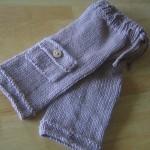 gri cepli örgü bebek pantolonu