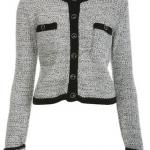 gri siyah renkli abiye örgü bayan ceket modeli