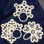 halkalı dantel peçete yüzüğü modeli