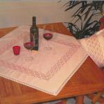 hesap işi masa örtüsü ve kırlent modeli