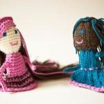 iki kız arkadaş figürlü  rögü parmak kukla örnekleri