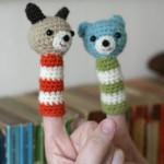 iki sevimli ayıcıklı örgü parmak kukla örneği