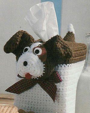 köpek şeklinde örgü peçetelik örneği