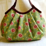 küçük çiçek desenli kumaş çanta modeli