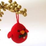 kırmızı bıyıklı örgü kuş modeli