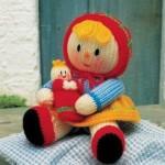 kırmızı başlıklı örgü oyuncak bebk modeli