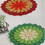 kırmızı yeşil yuvarlak örgü nihale modelleri