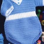 kısa şort şeklinde örgü bebek tulumu