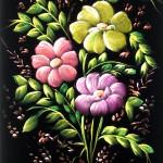 kabartmalı kumaş boyama örneği