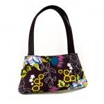 kahverengi renkli desenli kumaş çanta modeli