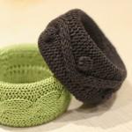 kahverengi ve yeşil renkli örgü bilezik modelleri
