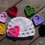 kalp desenli rengarenk bebek bere modeli