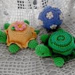 kaplumbağa desenli örgü aksesuar modeli