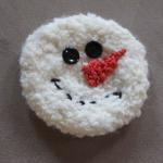 kardan adam desenli örgü aplike örneği