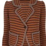 turuncu kahverengi abiye örgü ceket modeli