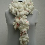 koza ipten çiçek çiçek atkı modeli