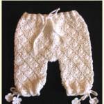 krem rengi örgü bebek pantolonu