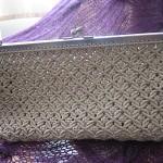 krem rengi makrome portföy çanta modeli