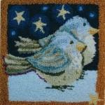 kuş motifli punch iğnesi nakışı