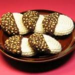 kurabiye desenli örgü mutfak süsü