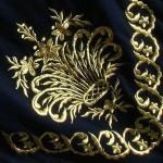 maraş işi ile işlenmiş masa örtüsü modeli