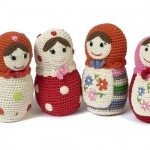 matruşka bebeklerinden kızlara örgü oyuncak modelleri
