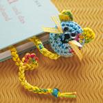 mavi kedili örgü kitap ayracı modeli