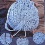 mavi makrome sırt çantası modeli