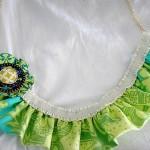 mavi yeşil kumaş kolye modeli