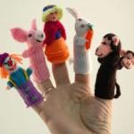 maymuncuk figürlü örgü parmak kukla örneği