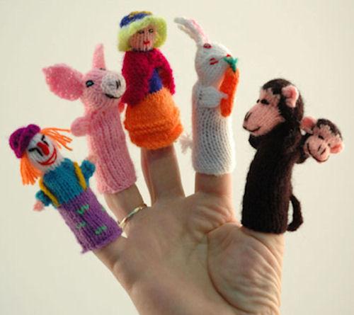 Örgü parmak kukla örnekleri maymuncuk figürlü örgü parmak