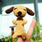 minik köpekçik örgü parmak kukla örneği