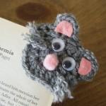 minik kedicik desenli örgü ayraç modeli