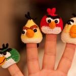 minik kuşlar örgü parmak kukla örnekleri