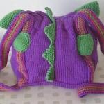 mor renkli örgü sırt çantası modeli