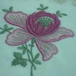 pembe çiçek desenli çin iğnesi bohça modeli