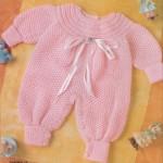 pembe örgü kız bebek tulumu