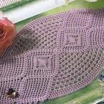 pembe dantel tepsi örtüsü modelş