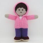 pembe hırkalı örgü oyuncak bebk modeli