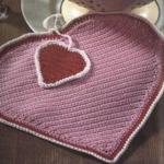 pembe kalp desenli örgü nihale modeli