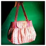 pembe kalp desenli kumaş çanta modeli