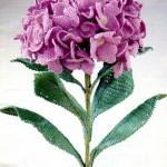 pembe katmer katmer örgü vazo çiçeği modeli