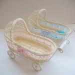 pembe mavi tekerlekli bebek sepeti modelleri