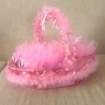 pembe tüylü bebek sepeti modeli