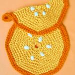 portakal desenli örgü nihale ve tutacak modeli