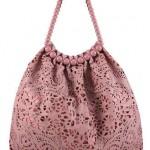 pudra rengi astarlı kumaş çanta modeli