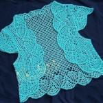 pullu mavi dantel yelek modeli