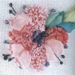punch nakışlı çiçek modeli